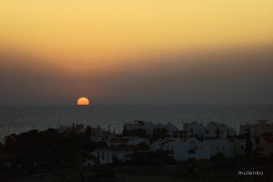 Sunset over Cyprus